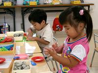 2才児粘土遊び